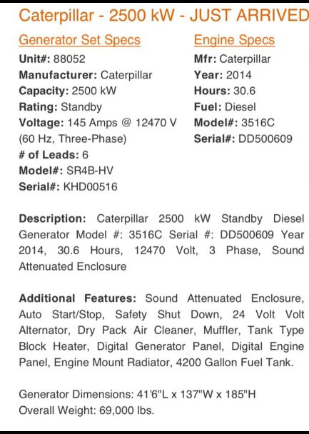 کاترپیلار 2.5 مگاوات